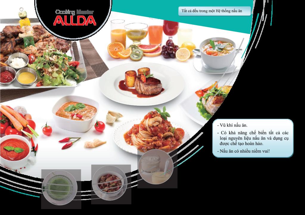Chuẩn bị bữa trưa với nồi nấu ăn đa năng ALLDA