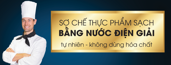 so che thuc pham sach rua rau sach bang nuoc dien giai ion kiem